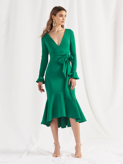 SOHO MIDI DRESS - EMERALD