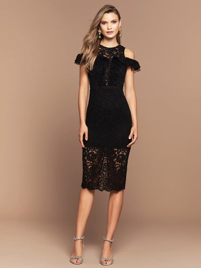 PARIS LACE MIDI- BLACK