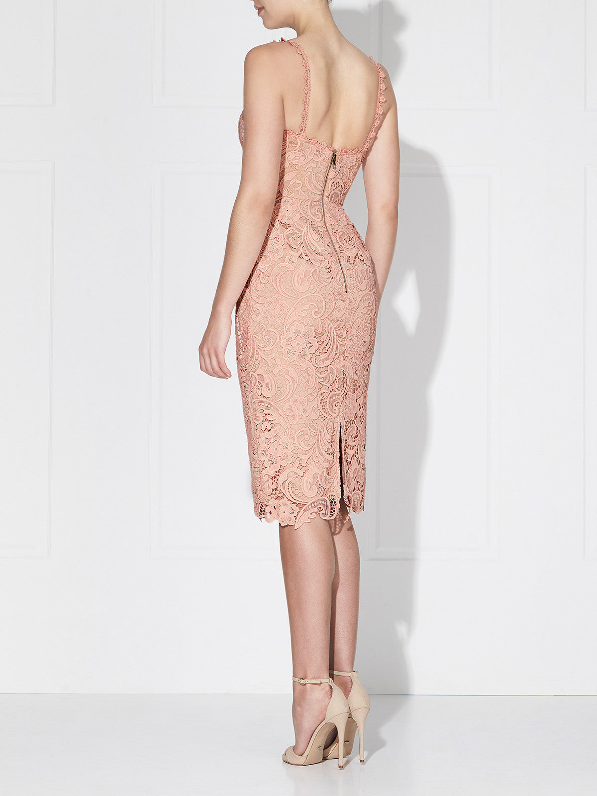 BLUSHING DRESS- DUSTY PINK/NUDE