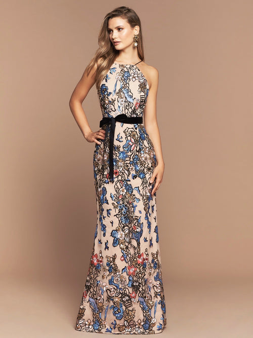 RUMI SEQUIN GOWN - MULTI