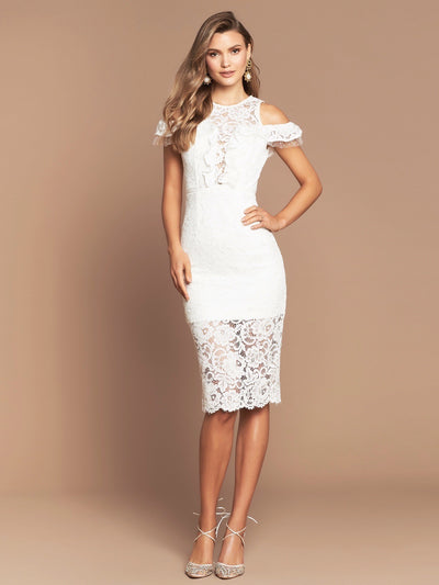 PARIS LACE MIDI- IVORY