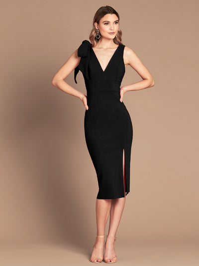 PRE ORDER MILANA MIDI DRESS - BLACK