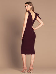 PRE ORDER MILANA MIDI DRESS - WINE