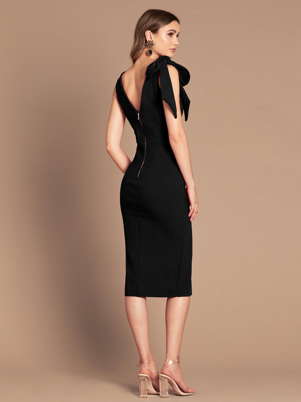 MILANA MIDI DRESS - BLACK
