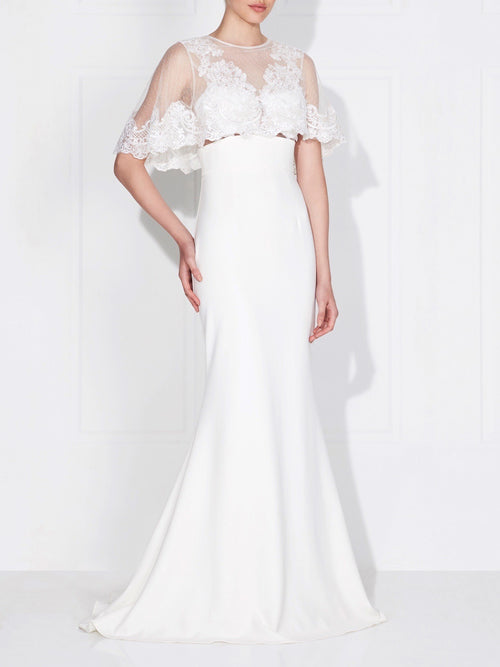 CAPELET GOWN - IVORY