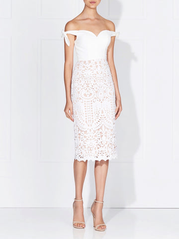 ANIA LACE DRESS - IVORY