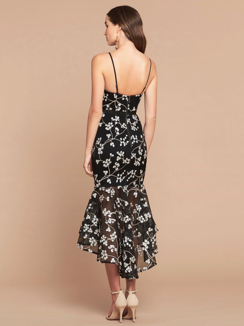 PERLA DRESS - BLACK FLORAL