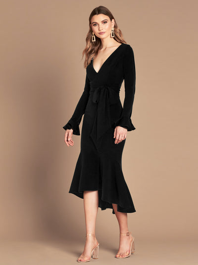 SOHO MIDI DRESS - BLACK