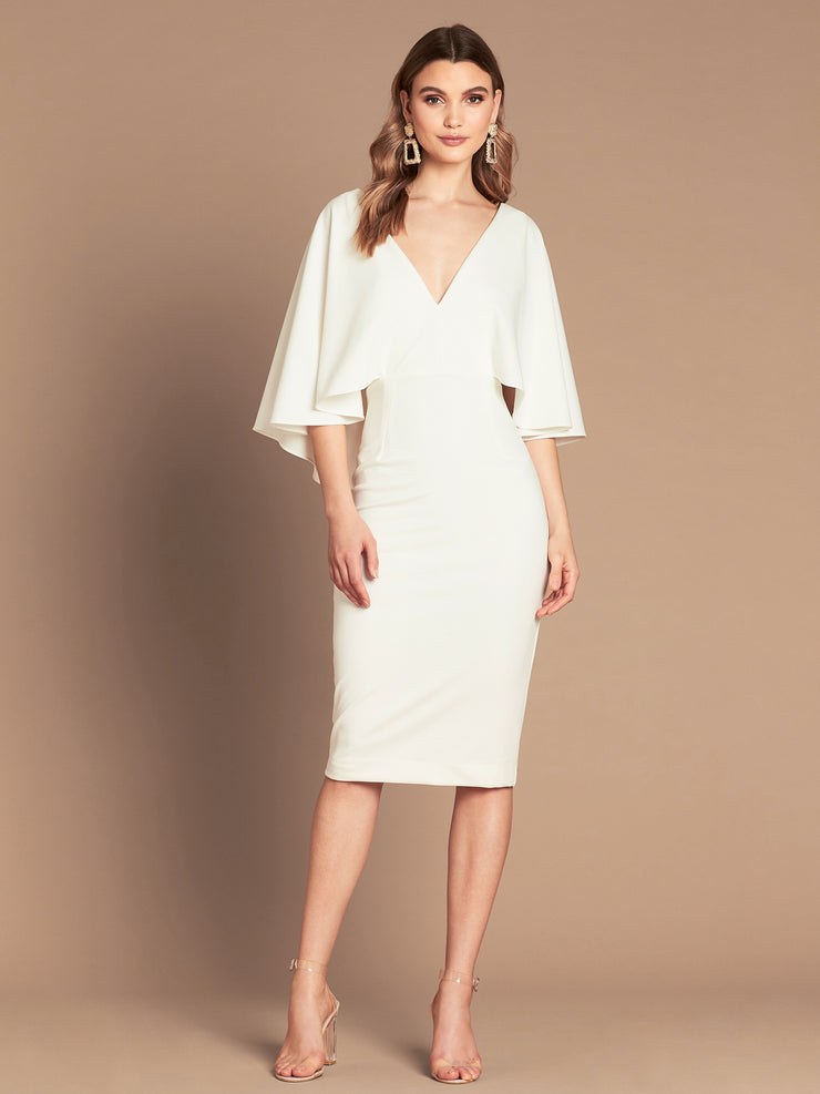 ENCHANTED MIDI DRESS - IVORY