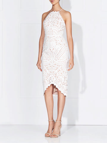 ARABELLA LACE DRESS - BLACK/NUDE