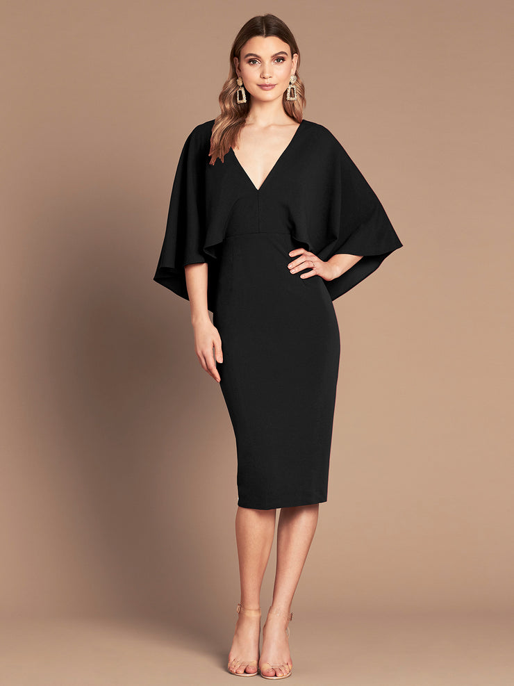 ENCHANTED MIDI DRESS - BLACK