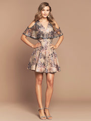 CHIARA DRESS - BUFF FLORAL