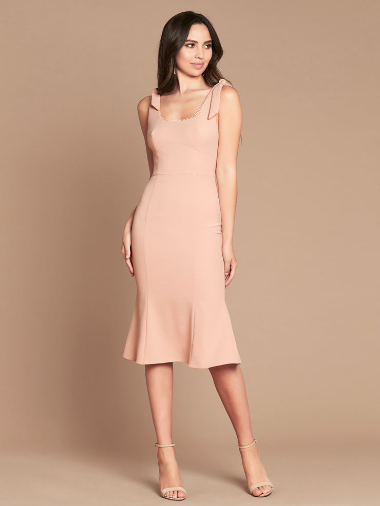 PENNY FLARED MIDI - BLUSH