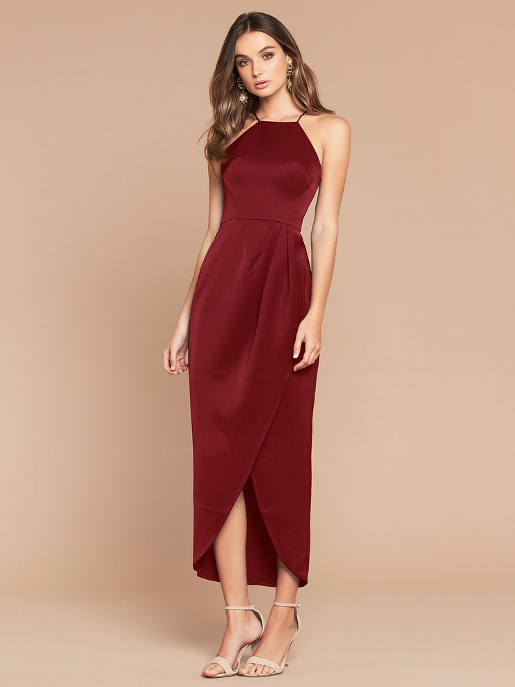 AURELIA DRESS - WINE