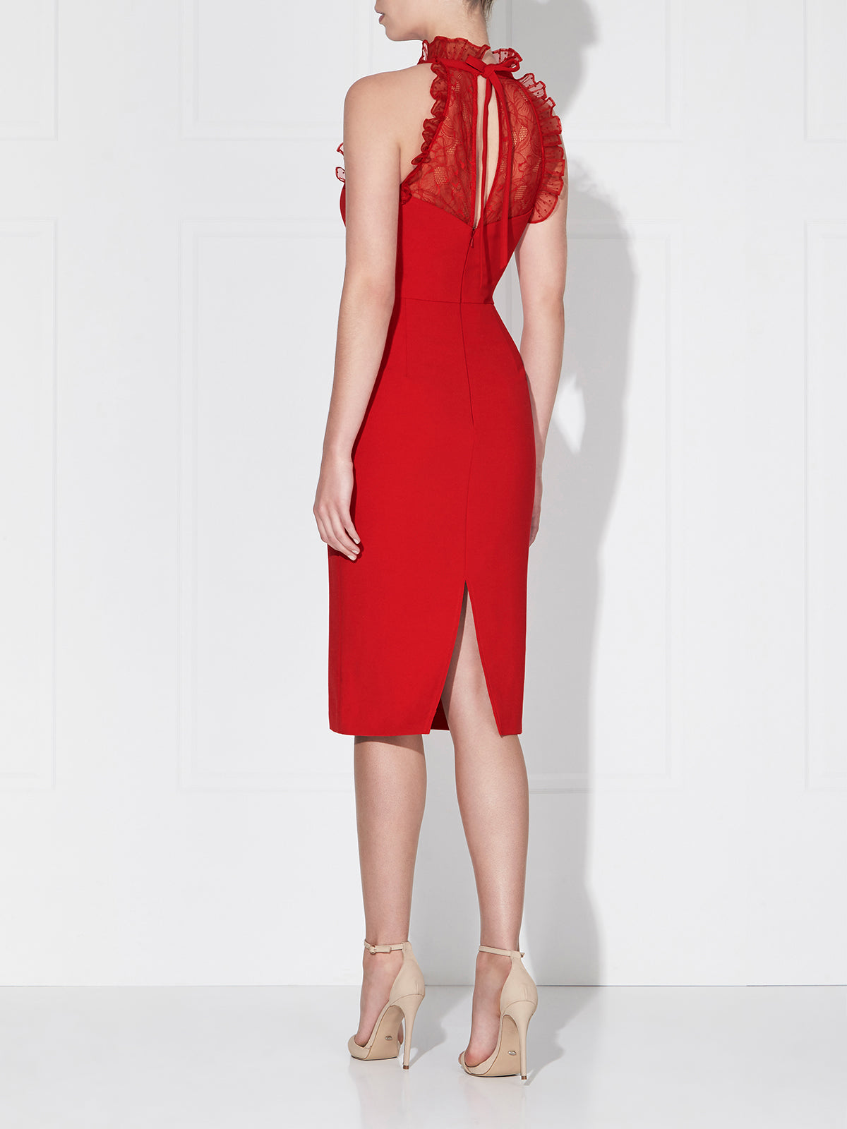 PAULINA MIDI DRESS - CHERRY
