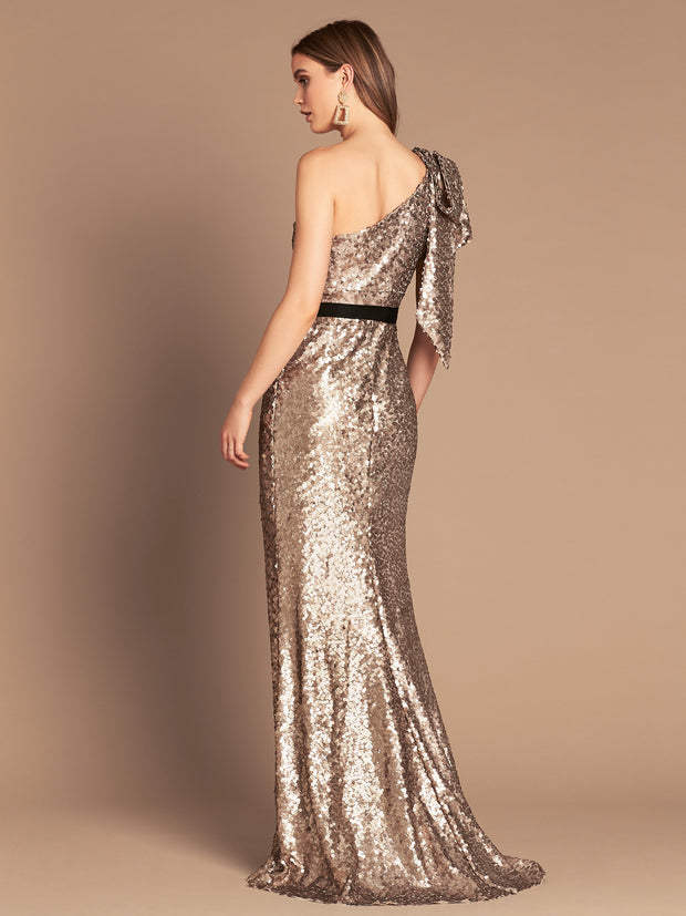 AMORE SEQUIN GOWN - BRUSHED GOLD