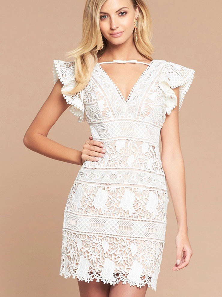 SIENA LACE DRESS - IVORY