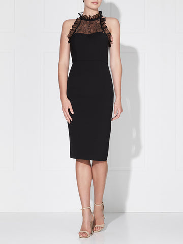 NOLITA LACE DRESS - BLACK/NUDE