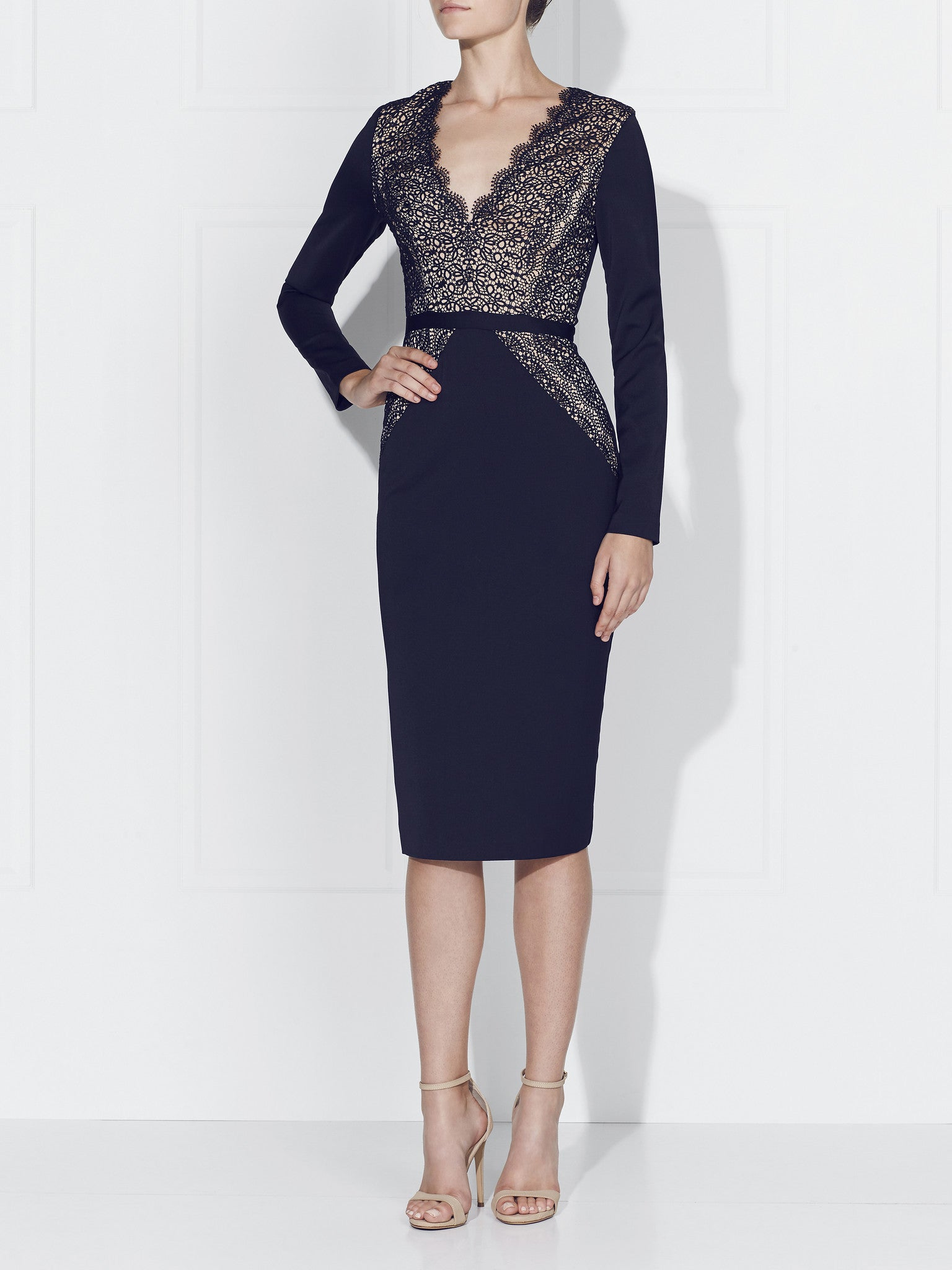 STEFANA DRESS- NAVY