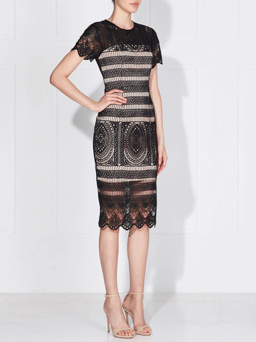 WILLOW LACE DRESS - IVORY/NUDE