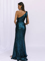 SCALA SEQUIN GOWN - EMERALD