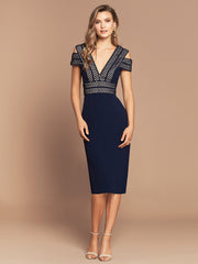PIA MIDI DRESS - NAVY