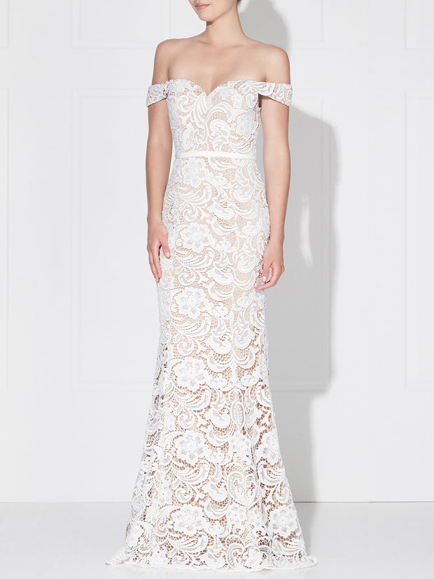 STELLA GOWN -IVORY/NUDE