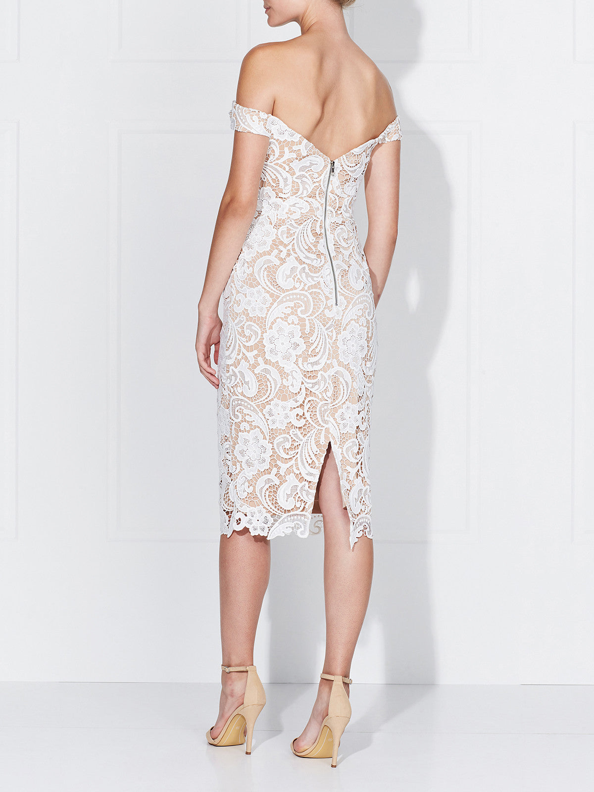 STELLA DRESS- IVORY/NUDE