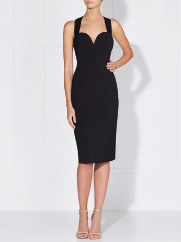 PAULINA MIDI DRESS - BLACK