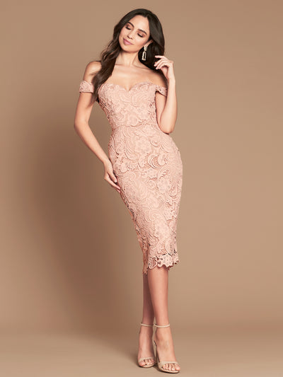 STELLA DRESS - DUSTY PINK/NUDE