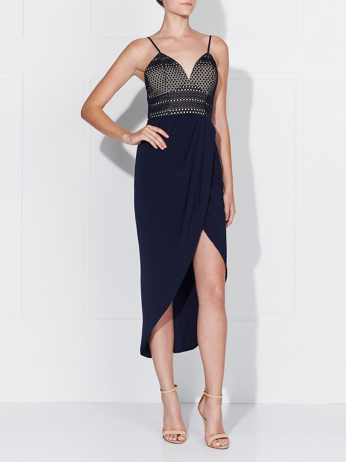 AZURA DRESS- NAVY