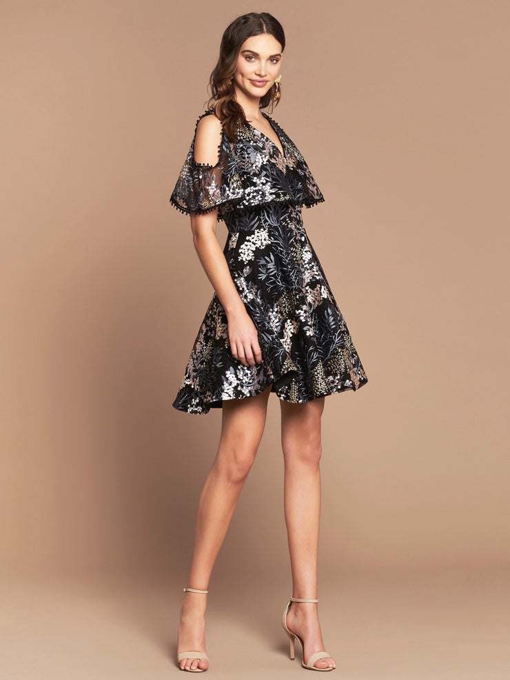 CHIARA DRESS - BLACK FLORAL