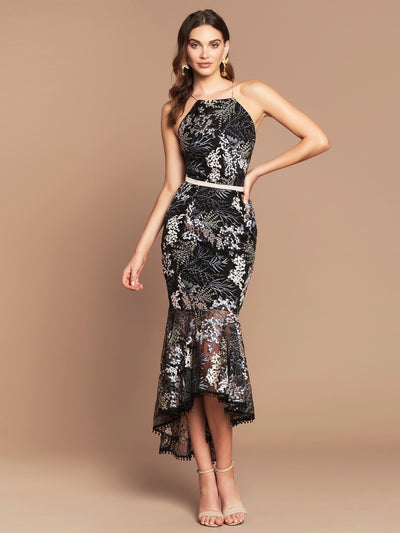 PALOMA DRESS - BLACK FLORAL