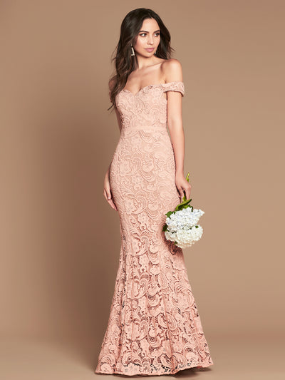 STELLA GOWN - DUSTY PINK/NUDE