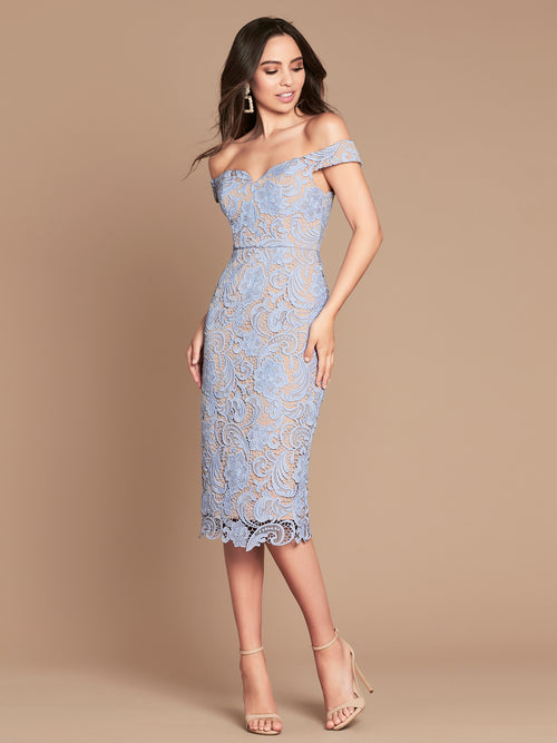 STELLA DRESS - POWDER BLUE