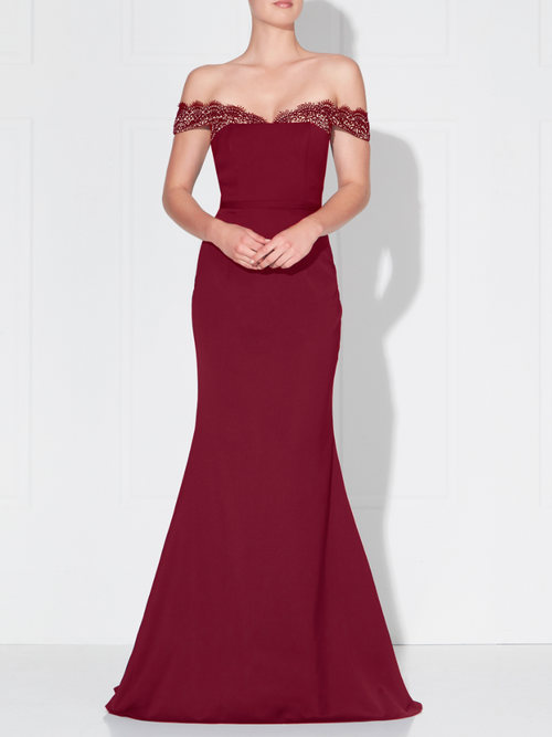 SELENA GOWN- BERRY