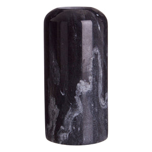 Leia Large Black Marble Candle Holder