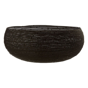 Haim Large Black Wire Decorative Bowl