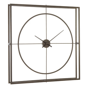 Neo Rust Frame Wall Clock