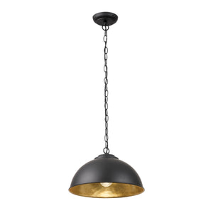 Industrial Matt Black Pendant Light