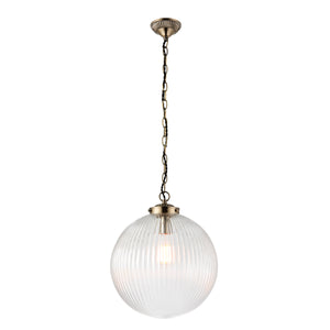 Reeded Glass Pendant Light