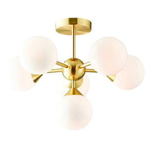 Emmy 6 Pendant Light Brushed Gold