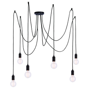 Brooklyn 6 Cluster Pendant Light Matt Black