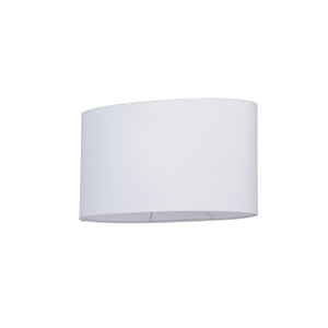 Oval Lampshade in White