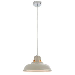 Taupe Industrial Style Pendant Light