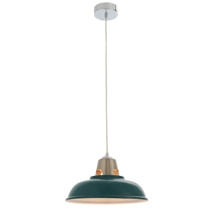 Green Industrial Ceiling Pendant