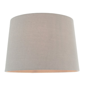 Large Charcoal Linen Lampshade