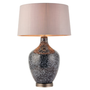 Sophia Table Lamp in Black Glass