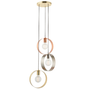 TriColour Three Hoop Pendant Light