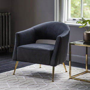 Holland Armchair Black Velvet
